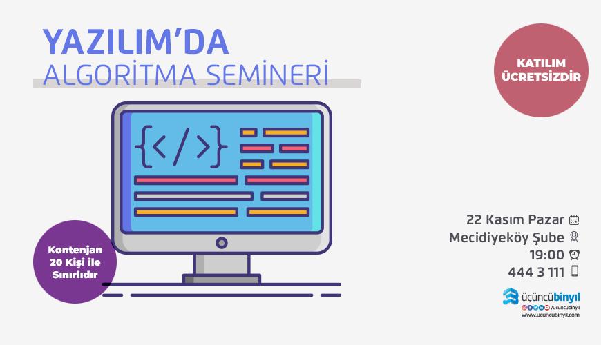 yazılımda algoritma semineri